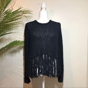 A.L.C. Silk Fringe Sweater